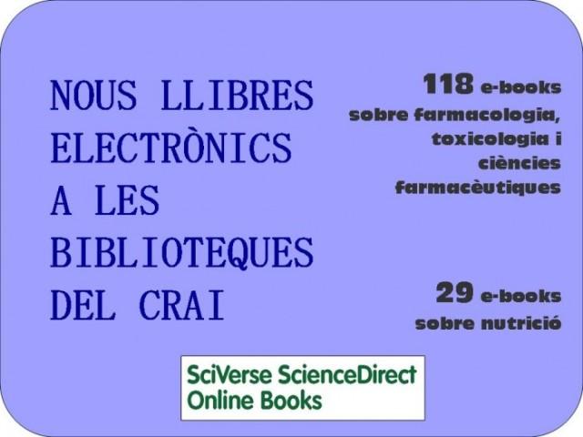 Nous llibres electrònics a les biblioteques del CRAI