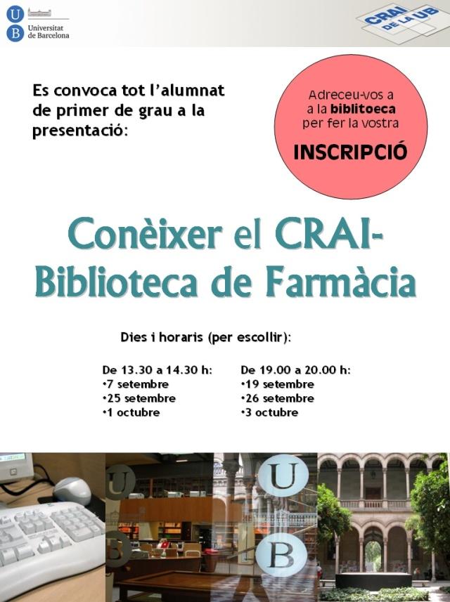 Conèixer el CRAI Biblioteca de Farmàcia
