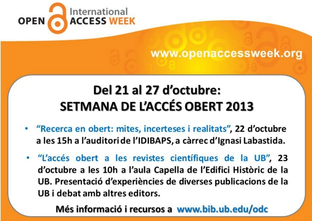 Open Access Week 2013