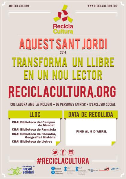 Campanya Sant Jordi Recicla Cultura