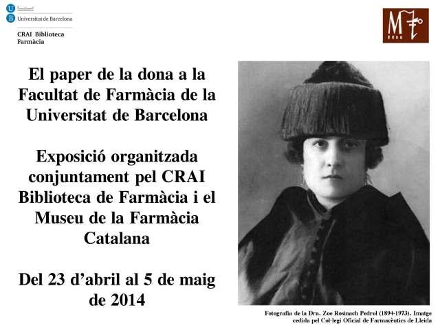 El paper de la dona a la Facultat de Farmàcia de la Universitat de Barcelona