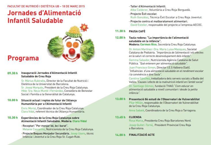 Jornades d'Alimentació Infantil Saludable al Campus de l'Alimentació de Torribera