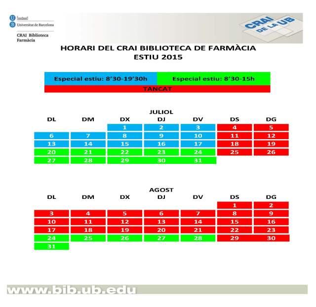 horari_estiu_calendari -Farmàcia