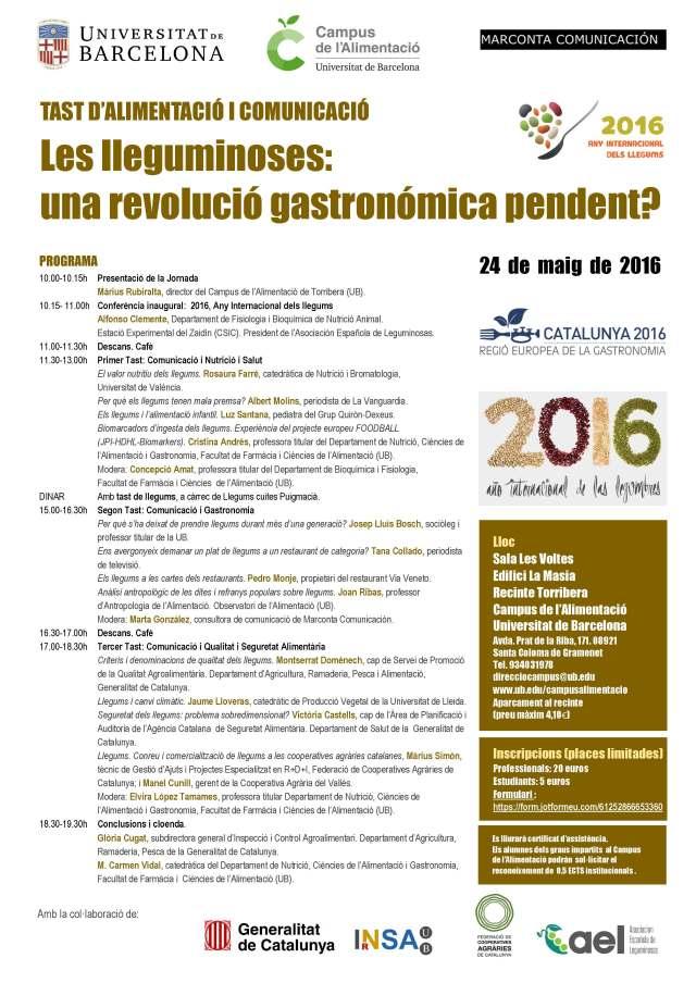 Jornada llegums 2016